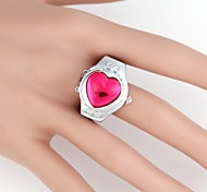 Women's Heart-Shaped  Gem Metal Quartz Analog Ring Watch(1Pc) Cool Watches Unique Watches