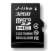 32GB J-like Class 4 MicroSDHC TF Memory Card