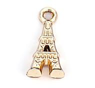 Legierung Eiffelturm diy Charme-Anhänger&Halskette (10 Stück pro Packung)