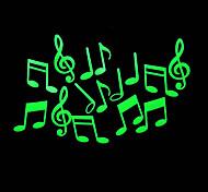 romantische Haus absorptiometrische Nachtlichter Aufkleber-Musik-Note