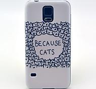 wegen der Katzen-Muster harte Fallabdeckung für Samsung Galaxy i9600 s5