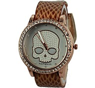 Women's The Skeleton PU Band Quartz Wrist Watch (Assorted Colors)