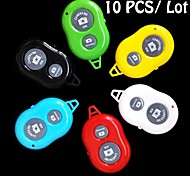 10 PCS Bluetooth Remote Control Self Timer Camera Shutter for iOS Android Phone (Assorted Colors)