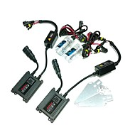 12V 35W H1 6000K Lampe Xenon HID Conversion Kit Set avec support de montage (Noir Slim Ballast)