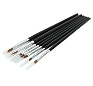 7PCS Nail Art Brushes Kits With Black Handle