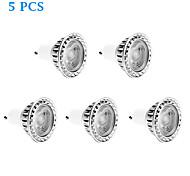 Lâmpadas de Foco de LED Regulável GU10 7W 560 LM 6000 K Branco Frio 1 COB 5 pçs AC 220-240 V