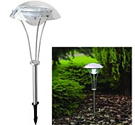 3-LED Solar Power White Outdoor Garden Pathway Landscape Night Light