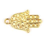 Alloy Hand DIY Charms Pendants for Bracelet & Necklace(10 PCS Per Package)