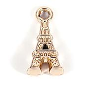Legierung Eiffel diy Charme-Anhänger&Halskette (10 Stück pro Packung)