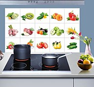 Doudouwo® Botanical The Vegetables And Fruit Anti-Oil Wall Stickers