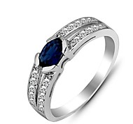 Genuine 925 Sterling Silver Wholesale and Detail Rings for Woman Engagement Wedding Sapphire Silver Rings