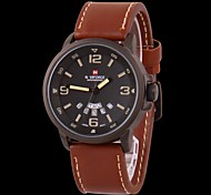 Men's Watch Military Water Resistant Calendar Leather Strap