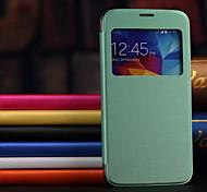 estojo de couro pu caso de volta duro com vista da janela para i9600 Samsung Galaxy S5