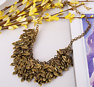 Exaggerated Fashion Retro Multilayer Butterfly Pendant Necklace