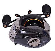 TS1200 Direito Handle 13 +1 Ball Bearing Preto Fishing Reel