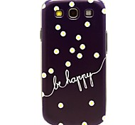 Be happy with Daisy Flowers Pattern Hard Plastic Cases for Galaxy Samsung S3 I9300