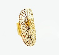 New Arrival Fashion Hollow Out Gold Palted Ring Design