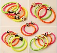 (3PC Random) Simple and Practical High Elastic Color Elastic Hair Bands