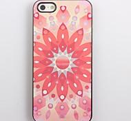 Rosa Lotus-Design Aluminium Hard Case für iPhone 4/4S