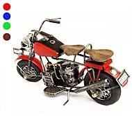 ENKAY Handmade Vintage Metal Motorbike Desk Decoration with Rotable Wheels (Assorted Colors)