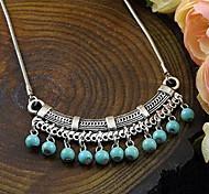 Collana dell'annata del turchese del pendente d'argento tibetano