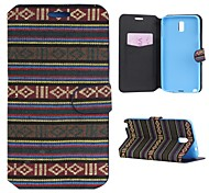 Cotton Fabrics Full Body Case with Stand and Card Slot for Samsung Galaxy Note 3 Mini(Assorted Colors)