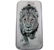 Le Boîtier PC Retour puissant lion de modèle pour Samsung Note 2 N7100