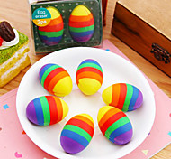 2PCS Colorful Eggs Eraser