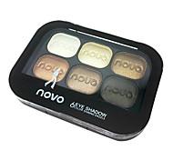 6 Paleta de Sombras de Ojos Paleta de sombra de ojos Polvo Normal