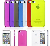 PP Ultra Thin 0.01 inch/0.3 mm Soft Case for iPhone 4/4S (Assorted Colors)