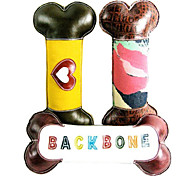 """BACKBONE"" Letters and Heart Pattern Genuine Leather Chewing Toy  for Pets Dogs(Assorted Colors)"