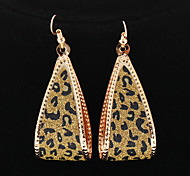 Classic Drop Water Shape Leopard Print Golden Drop Earrings(1 Pair)