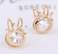 New Fashion  18K Gold Plated Little Rabbit Stud Earring ERZ0250