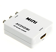 HDV-M615 Mini AV to HDMI 1080p Audio Video Converter w/ RCA