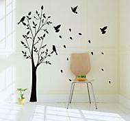 jiubai ™ etiqueta grande árvore e as aves parede decalque da parede, 165 centímetros de altura