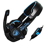 Stereo Sades SA708 3,5 milímetros Over-Ear Headphones Gaming Headset com microfone para PC Game (azul / verde / amarelo / branco)