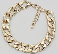 european-Kette () Gold-, Silber-Legierung Halskette (Gold, Silber) (1 pc)