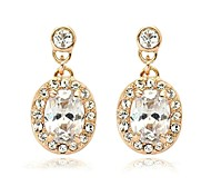 Noble Style Earrings 18K Rose Gold Plated Fashion Jewelry Made with Austrian Crystal