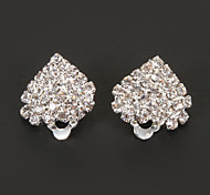Classic Heart Shape Diamanted Clip Earring(1 Pair)
