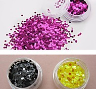 12-color Glitter Circular Sequins Nail Art Decorations(3mm,Random Color)