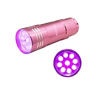 Hunterseyes ™ 9 LEDs UV 395-405NM  UV  Flashlight  Pink