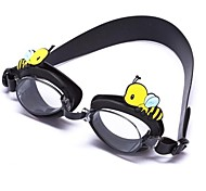 Mixed Color Silicone Kids Anti Fog Frog & Bee Cartoon Swimming Goggles