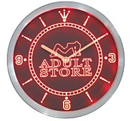 Adult Store Toy Shop Neon Sign LED Wall Clock