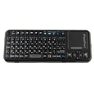 iPazzPort KP-810-10a 2,4 g russa sem fio teclado de 83 teclas Inglês / com caneta laser - preto