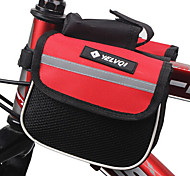 YELVQI Mash Cloth Black and Red Waterproof Double Side Cycling Frame Bag
