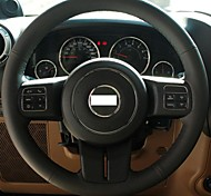 XuJi ™ Black Genuine Leather Steering Wheel Cover for 2012 Jeep Compass Grand Cherokee Wrangler Patriot
