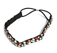 Lureme®Fashion Bohemian Colorful Handmade Crystal Beads Elastic Hairband Headband