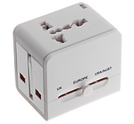All in One Universal Travel Power Adapter Converter for AU/UK/US/EU Plug w/ Dual USB Charger