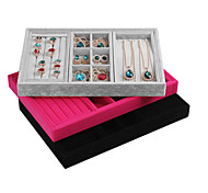 Classic Slap-up Ring Jewelry Stand Multicolor Paper Flannelette Jewelry Boxes(1 Pc)(More Color)
