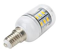 Faretti LED / Lampadine globo LED / LED a pannocchia 27 SMD 5730 Marsing T E14 4W 300-400 LM Bianco caldo AC 220-240 V